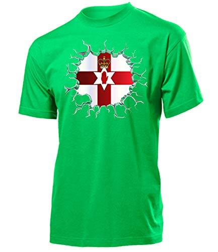 Nordirland Northern Ireland Fanshirt Fussball Fußball Trikot Look Jersey Herren Männer t Shirt Tshirt t-Shirt Fan Fanartikel Outfit Bekleidung Oberteil Hemd Artikel