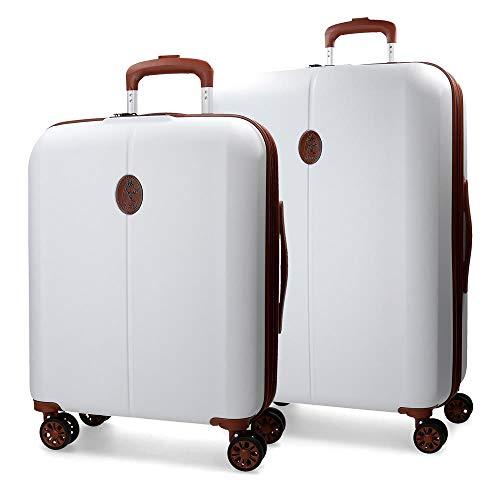 Juego de maletas El Potro Ocuri blanca 55-70cm