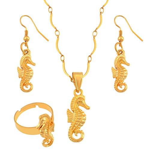 Juego de joyas de caballito de mar, animales acuáticos, caballito de mar, joyas para regalo #119306