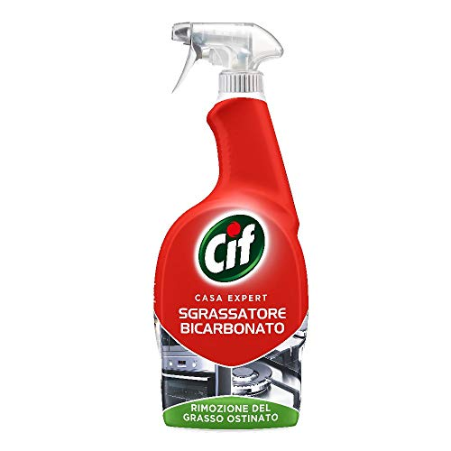 Cif Casa Expert Sgrassatore Bicarbonato, Spray Sgrassatore per Superfici Dure, 650 ml