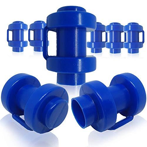 BM-Global 8 tappi terminali per aste di rete da 25 mm di diametro, di colore blu