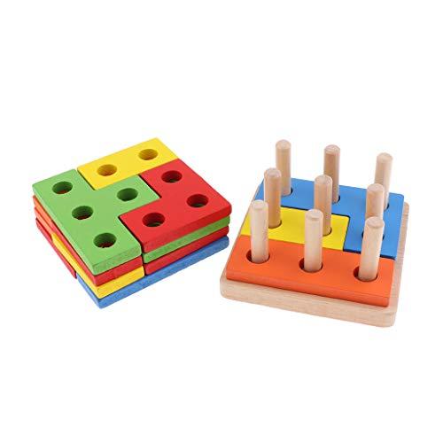 perfk Gioco Impilabile a Forma di Giocattolo in Legno per Bambini dai 6 Mesi in su 01