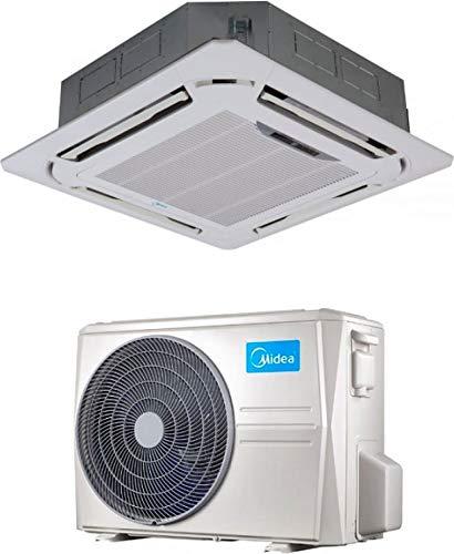 Climatizzatore Monosplit 24000 Btu Inverter Monosplit con Pompa di Calore Classe A++/A+++ Gas R32 Serie Cassette 4 Vie Slim