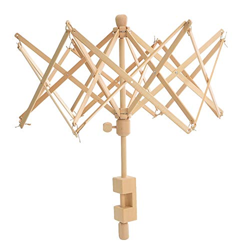 She-Lin Wooden Umbrella Swift Yarn Winder - Knitting Umbrella 24' Swift Yarn Winder Holder, 1pcs Swift Yarn Winder