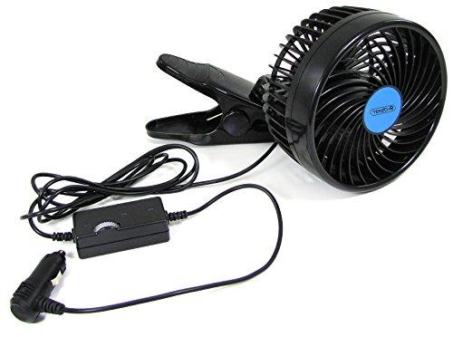Carparts-Online 27876 12 V Ventilator Lüfter für PKW Auto 15cm für Zigarettenanzünder mit Klemmfuss