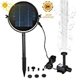 2W Solar Fountain Pump,Solar Panel with Submersible Pump Solar Powered Fountain Kit