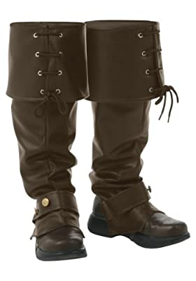 Deluxe Brown Boot Tops Standard from Fun Costumes