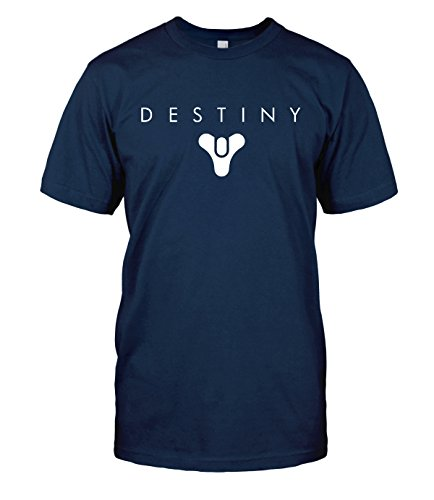 Destiny T-Shirt Destiny Logo Guardian Bungie Top Tee (Large, Navy Blue)