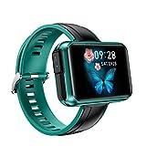 oneforus T91 Reloj Inteligente Auricular Bluetooth en La Oreja TWS Frecuencia Cardíaca Presión Arterial Detección de Movimiento Auricular Bluetooth Reloj Inteligente,Green