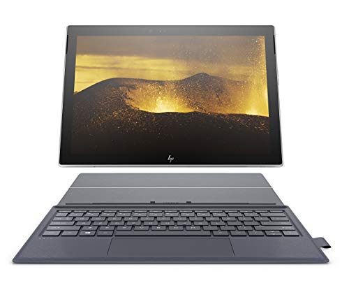 HP Envy x2 12-inch Detachable Laptop with 4G LTE, Qualcomm Snapdragon 835 Processor, 4 GB RAM, 128 GB Flash Storage, Windows 10 (12-e091ms, Silver, Blue) (Renewed)