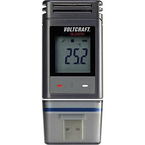 VOLTCRAFT DL-210TH Temperatur-Datenlogger, Luftfeuchte-Datenlogger Messgröße Temperatur, Luftfeuchtigkeit -30 bis +60 °