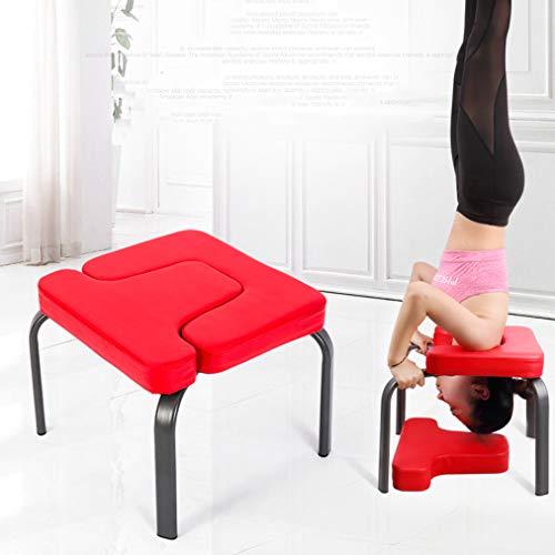 Headstand Bench, Yoga Inversion Stoel Met Suede Velvet Pads En Houten Benen, Headstand Trainer Stand Voor Vermoeidheid Te Verlichten En Op Te Bouwen Body,Red
