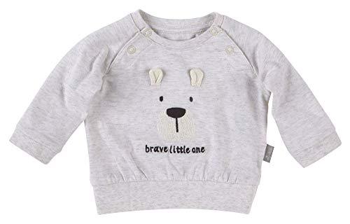 SIGIKID Baby Newborn - Mädchen und Jungen Langarm-Shirt aus Bio-Baumwolle, Bär/Grau, 68 (6 Monate)