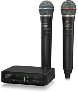 Behringer ULM302MIC High-Performance 2.4 GHz Digital Wireless System with 2 Handheld Microphones and Receiver