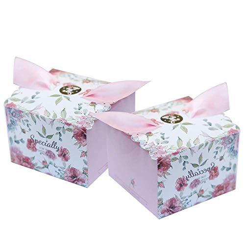 50 x Peu Princesse Papier Kraft Douche de bébé boîtes de faveur pour Fille Baby Shower fête d'anniversaire Fille baptême fête des Nouveau-nés