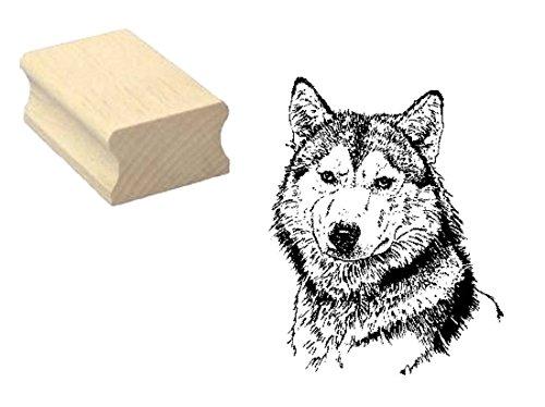 Sello sellos de madera diseño sello « cabeza de lobo » Scrapbooking–Embossing Manualidades...