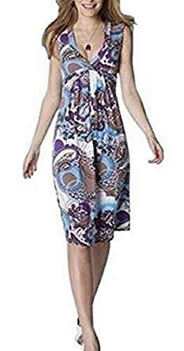 Jerseykleid Kleid von Vivance - Farbe Braun/Türkis Gr. 36