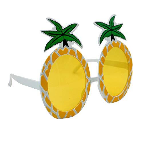 YAOSEN Women Tropical Pineapple Sunglasses Summer Pool Party Eyewear Photo Props (Yellow)