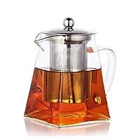pluiesoleil teiera in vetro borosilicato 500 ml teiera con infusore microonde sicuro perfetto per one
