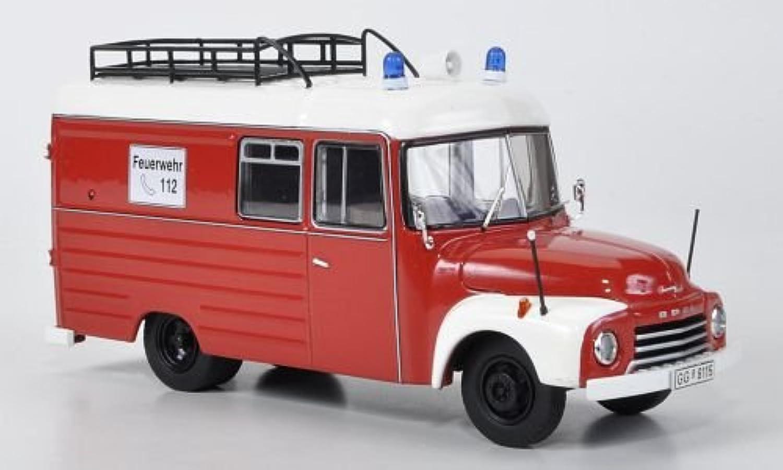 Opel Blitz 1,75t, Feuerwehr, red weiss, Modellauto, Fertigmodell, Premium ClassiXXs 1 43