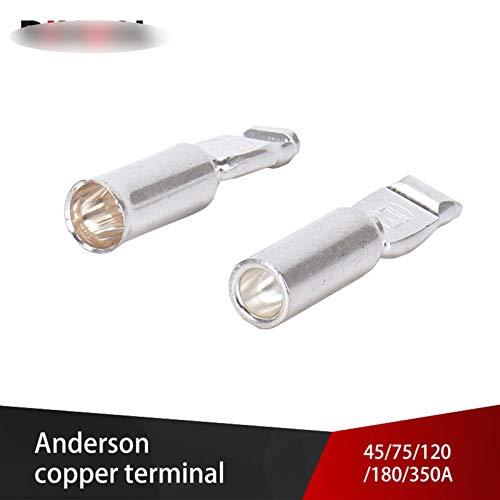 Anderson Power Conectores Terminales de cobre 30A 50A 75A 120A 180A 350A CA CC para el enchufe de la batería eléctrica del automóvil (Pins : 350A TX2712 1pc)