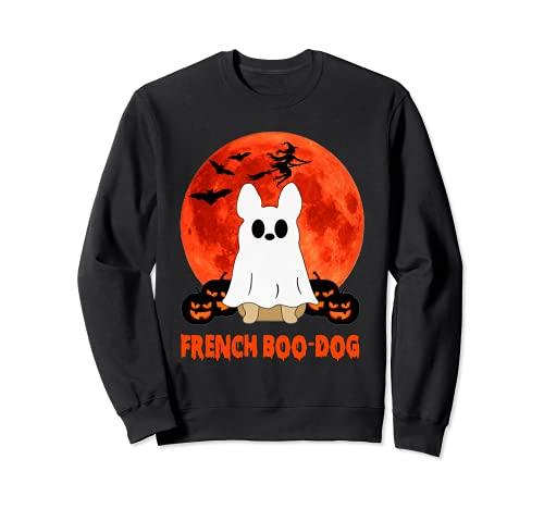 Bulldog Boo Dog Frenchie French Pumkins Boo Dog Halloween Sweatshirt