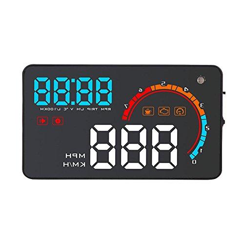 Car Head Up Display,D200 Auto OBD II HUD Head Up Display Geschwindigkeit Verbrauch Vergaser Wassertemperatur Projektor