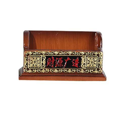 WSQ Escritorio suministros decoraciones personalizadas prácticos pequeñas mobiliario for tarjetas de visita tarjetero tarjetero caja de forma creativa adornos (Color : B)