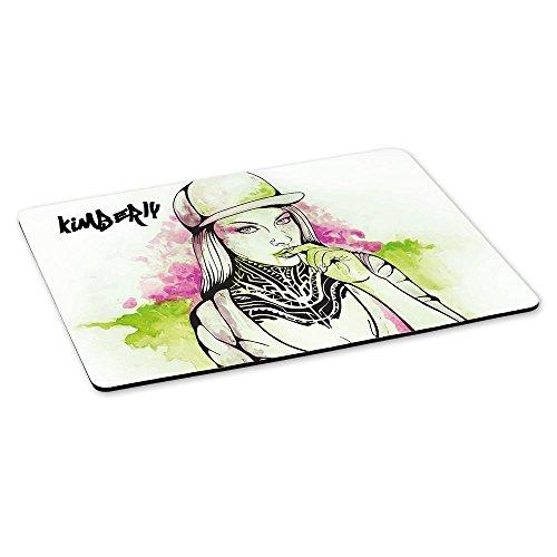 Gaming-Mousepad mit Namen Kimberly und schönem Sketchbook-Motiv für Mädchen - Gamer-Mousepad | Mausmatte | Mauspad