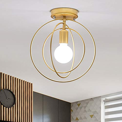 WENY E27 Lámpara De Techo Semi Empotrado Metal Lámpara De Techo Giratorio 360 Grados para Baño Cocina Living Habitación Habitación Pasillo Balcón (Sin Bombilla)