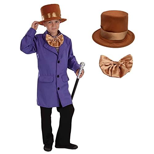 Fun Shack Disfraz de Dueño de Fábrica Niño, Disfraz Halloween Niño Disponible En Talla L