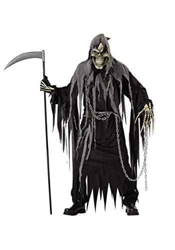 California Costumes Mr. Grim Costume, Black/Grey,One Size