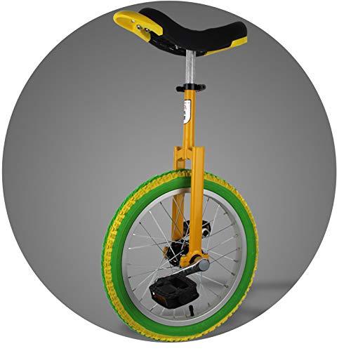 MXSXN Einstellbares Einrad, Bequem Und Einfach Zu Handhaben Freestyle Einrad 16/18/20 Zoll for Anfänger Kinder Erwachsene Spaß Im Freien,16in