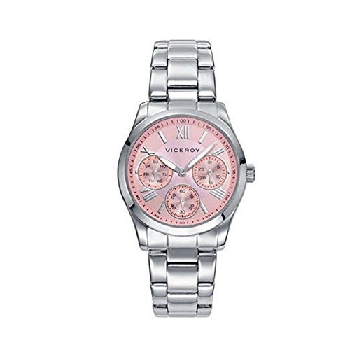 Viceroy Damen Analog Quarz Uhr mit Edelstahl Armband 42212-73