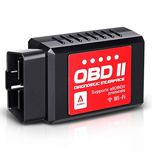 Audew Car WiFi OBD2 Scanner for iOS, Android and Windows Devices, Wireless OBDII Car Code Reader Scan Tool, Scanner Adapter Check Engine Diagnostic Tool Fit Most Vehicles