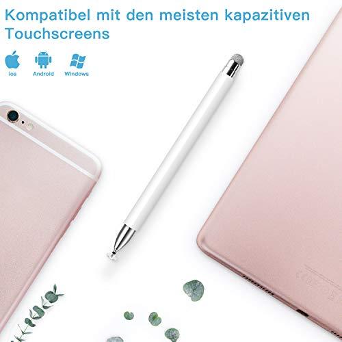 Mixoo Disc Stylus Stifte mit Magnetkappe, hochempfindlicher kapazitiver Stylus für Smartphone Samsung Galaxy Tablet (Weiß)