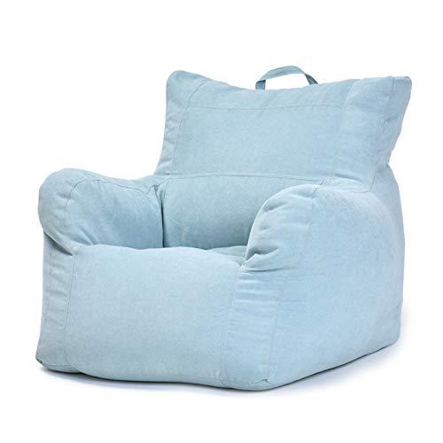 """FBKPHSS Großer Bezug für Sessel, (ohne Füller) Baumwolle Leinen Sitzsackbezug Waschbar Multifunktion Sitzsackbezüge für Spielzimmer Schlafzimmer,Light Blue,31.4""""*30.7""""*24.8"""""""