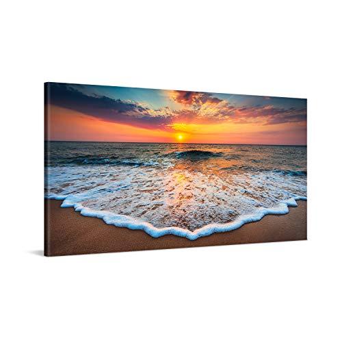PICANOVA – Cuadro sobre Lienzo Sea Sunset 100x50cm – Impresión En Lienzo Montado...