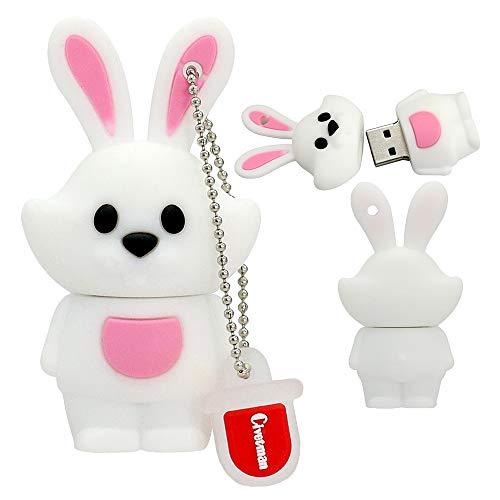 Chiavetta USB per animali a forma di penna USB con simpatici animali da 16GB per bambini e studenti. Coniglio Pendrive
