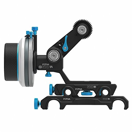 Fotga DP500III Mark III Quick Release Dampen Follow Focus A/B Hard Stop with Swing Rocker Arm for 15mm and 19mm Rods System for Blackmagic BMCC BMPCC 5DIII 5DIV A7R A7S GH3 GH4 D500
