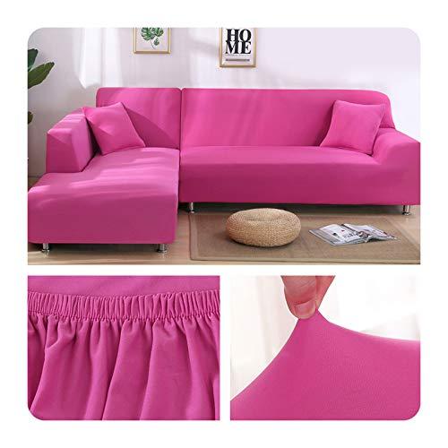 ZaHome Funda elástica de sofá para sala de estar, esquina en U, funda de sofá todo incluido, fundas de sofá en forma de L necesitan comprar 2 piezas - 012-2 plazas (145-185 cm)