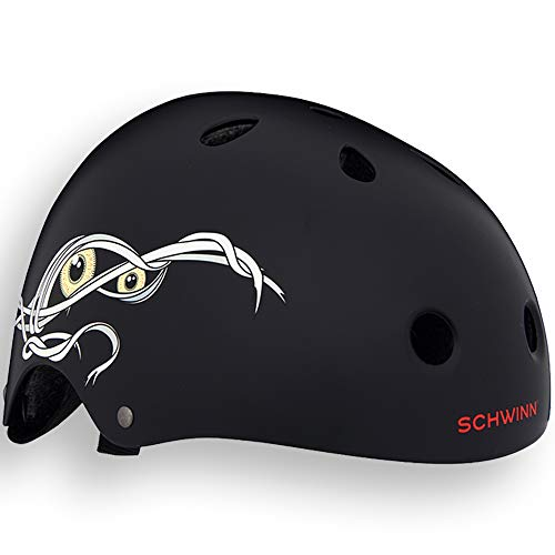 Schwinn The Mummy Casco BMX, Niños, Negro, S