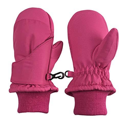 N'Ice Caps Kids and Baby Easy-On Wrap Waterproof Thinsulate Winter Snow Mitten (Fuchsia 2, 2-3 Years)