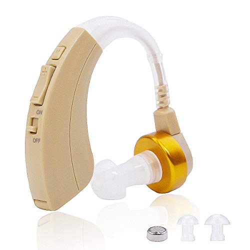 Hua Sheng Digital Hearing Amplifiers Sound Amplifiers to Aid Suitable for Adults or The Elderly, Left/Right Ear Universal.