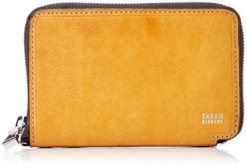 [タケオキクチ] マルゴ小物 ラウンドファスナー 二つ折り財布 780604 キャメル