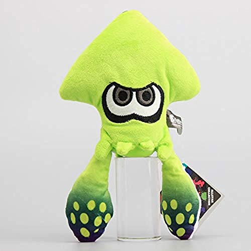 stogiit Anime Splatoon Inkling Squid Plüsch Puppe Kuscheltiere Lime Green Plüschtiere Sammler Geschenk Für Kinder 23 cm