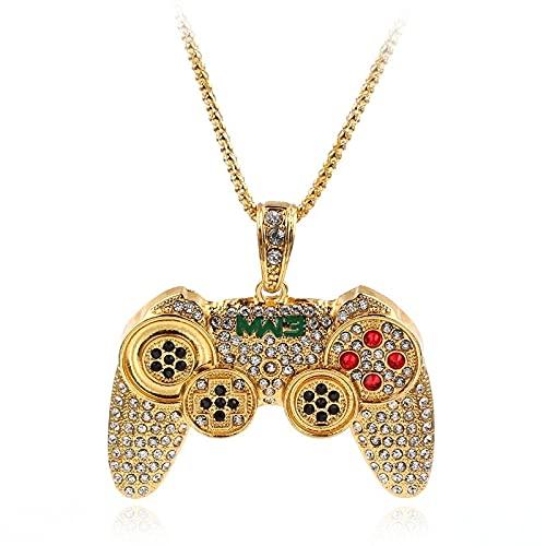 Consola de juegos Maneje Collar Colgante cadena de oro collar de cristal encantos para niños niños regalos de oro