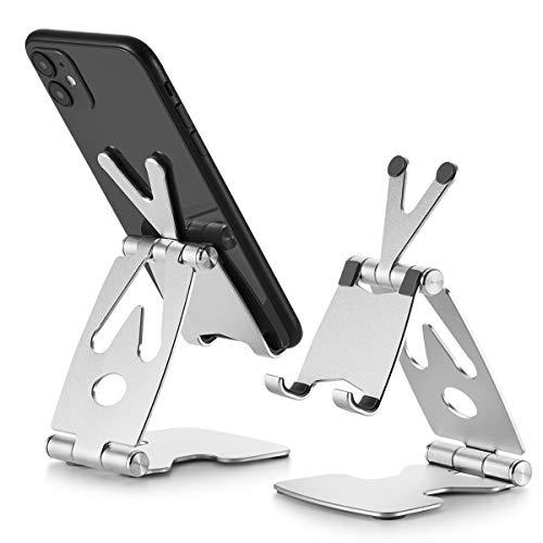 rosgel Cell Phone Stand, Fully Foldable Adjustable Desktop Phone Holder,...