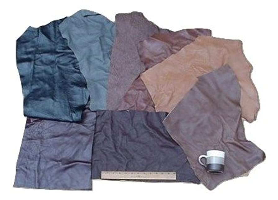 Scrap Upholstery Leather Mixed Jumbo Pieces Lw 12 Sf rpc001114322
