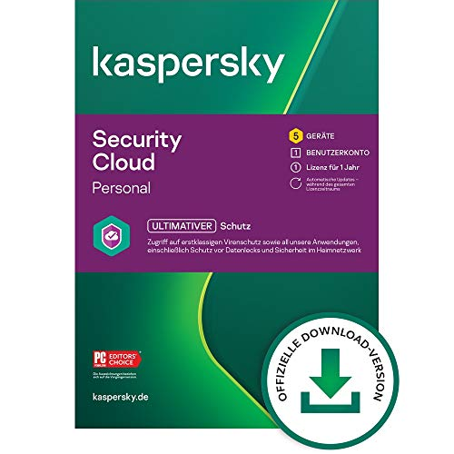 Kaspersky Security Cloud – Personal Edition | 5 Geräte | 1 Jahr | Windows/Mac/Android/iOS | Aktivierungscode per Email